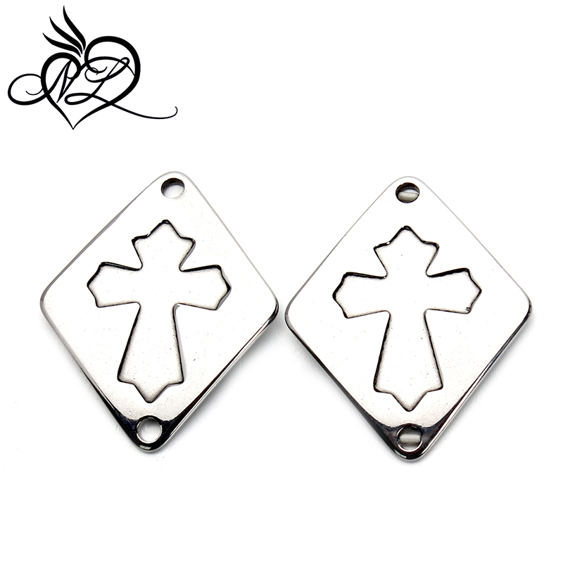 Stainless Steel Blank Jewelry Making <strong>Accessory</strong> Custom Cross Charm