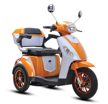 Low Speed Electric Elderly Mobility Scooter / Comfortable Handicapped Three Wheel Bicycle With Arm Rest