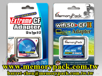 wifi SD to CF II adapter reader converter 5mm MPK-SDCFA-C06