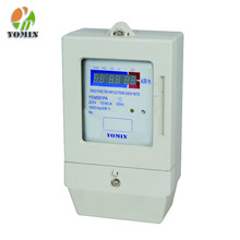 Front Board Installed Single Phase Smart electricity meter Card Prepaid Energy Meter with LED Display