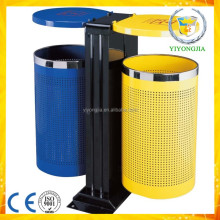 High quality industrial outdoor waste bins metal skip bin classified garbage bin
