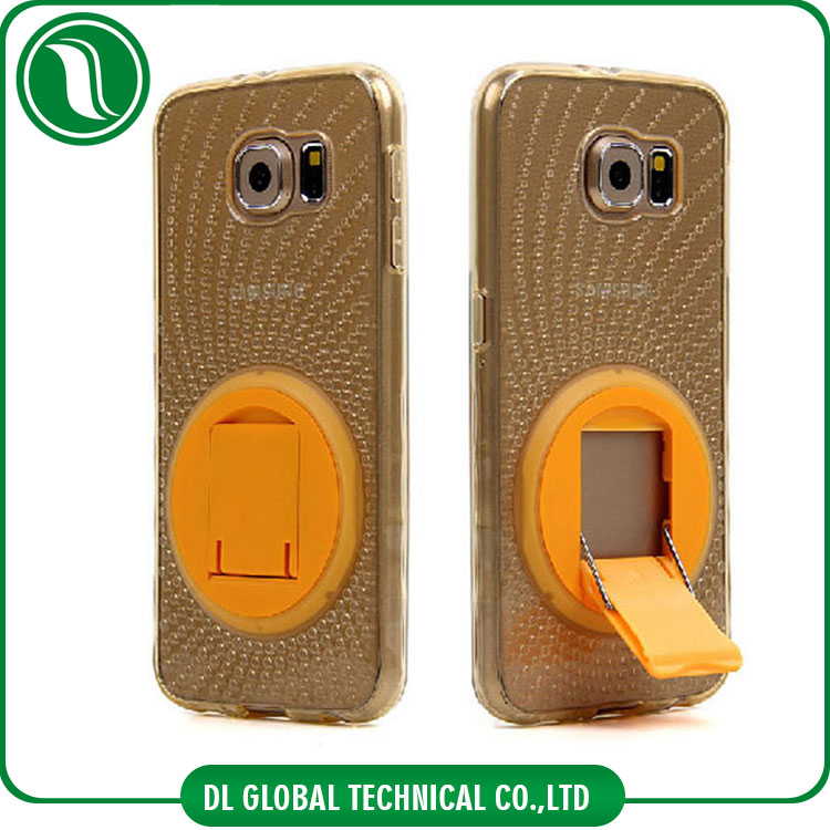 360 degree rotating bracket mobile phone cases for all iphone and Samsung cover case TPU and PC cell phone case