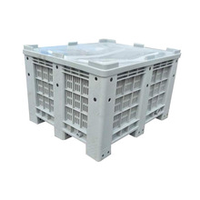 Large High Quality Plastic Storage Containers/Pallet Boxes with Wheels