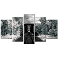 Railroad in the Forest Canvas Printing Modern Decor Canvas Painting for Living Room Bedroom Office Decoration 5 Panels