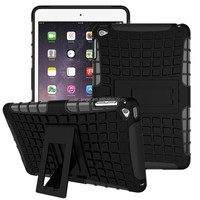 Best Quality heavy duty armor kickstand TPU+PC 2 in 1 table case For iPad mini 4 hard cover table case fast delivery
