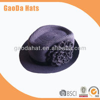 High quality and cheap fedora &triby raffia straw hats/festival/beach/summer hats