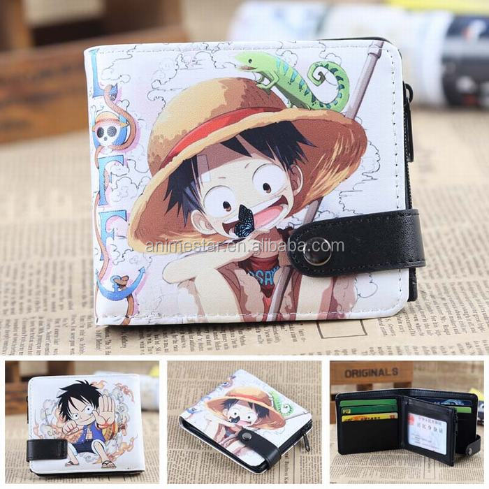 Hot Selling One Piece Anime Purse, Anime PU Wallets