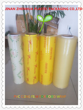 transparent plastic packaging 2000m jumbo roll cling film for food wrap