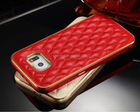 Genuine Leather Case With Metal Bumper For Samsung Galaxy S6