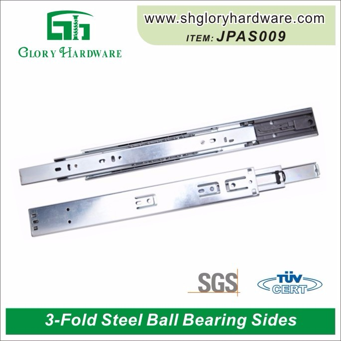 Classical special push to open cheap drawer ball bearing slide