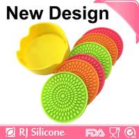 RJSILICONE silicon drink coaster silicon glass coaster colorful silicone coaster