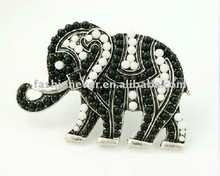 Elephant Shape Rhinestone Adjustable Ring Fashion Crystal Animal Finger Ring Jewelry
