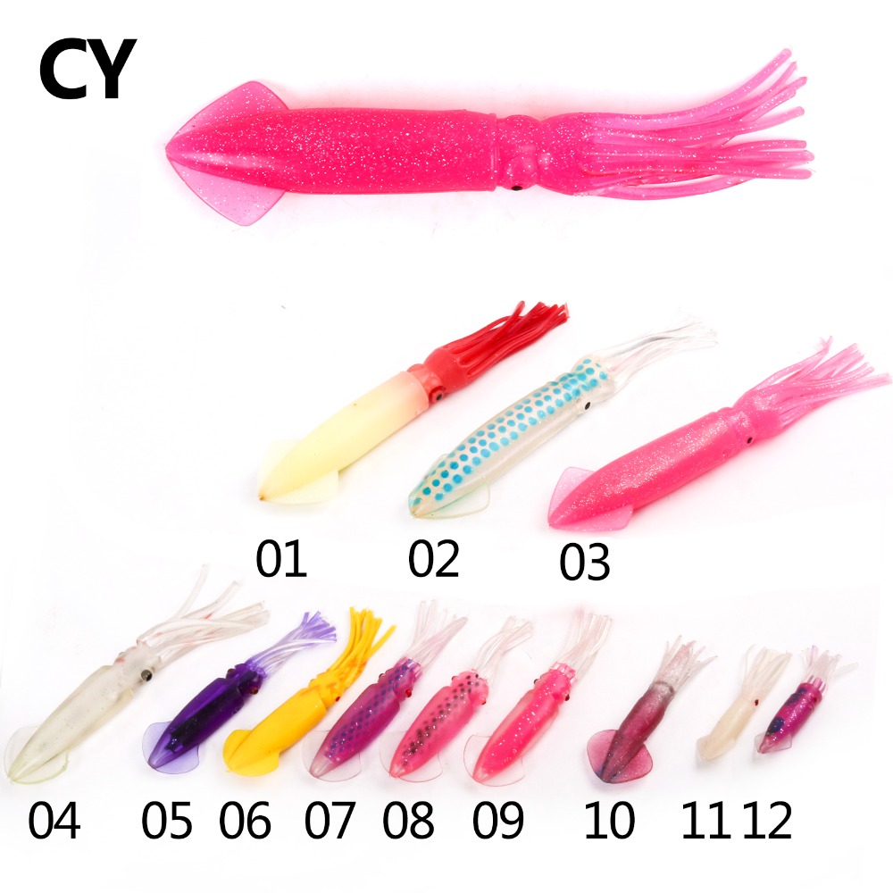 Cy 8 30cm with insert tube fishing lure soft plastic soft for Tube fishing lure