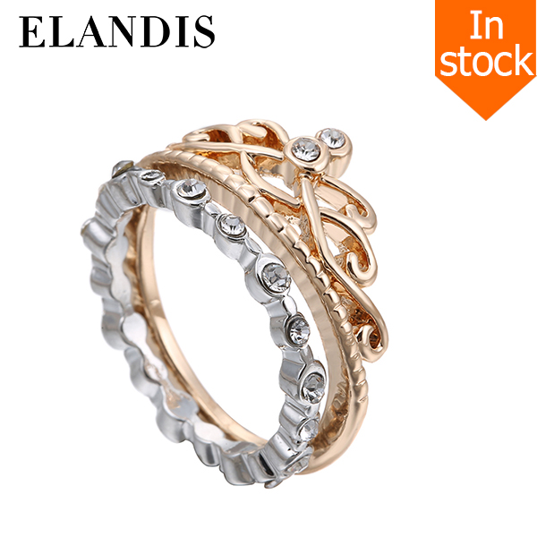 E-ELANDIS 2016 crown shaped latest silver crown ring