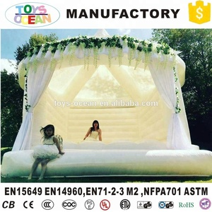 Commercial Adults White Inflatable Wedding Jumping Bouncy Castle