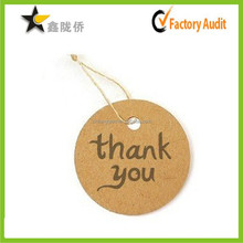 2015 promotional ! China wholesale custom fine craft paper printed bottle neck swing tags
