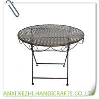 KZ150029 Antique Metal Iron Round Table