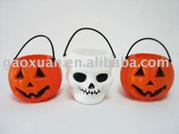 Mini Plastic Halloween Candy Bucket