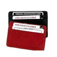 Genuine leather slim and compact mini ID card wallet credit card holder