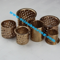 high hardness wrapped bush, grease lubricated flange bronze bearing,WF-WB700 brass bushings with oil groove