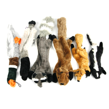 Plush Pet Chew Toy Animals Skin Simulation Stuffless Unstuffed Skunks with Squeaker