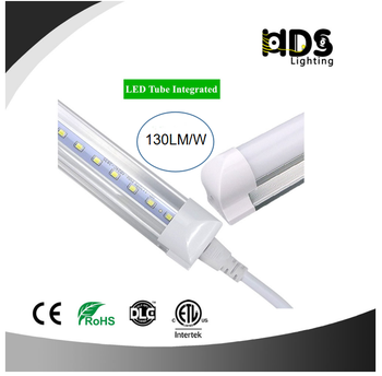 8FT 2400mm High Brightness SMD2835 Integrated 2400mm T8 LED Tube Light Indoor Lighting