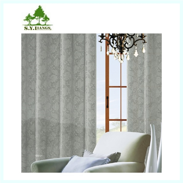 Taiwan supplier S.Y.LIANGS plain solid rod pocket curtain, passe pole sheer voile panel curtains