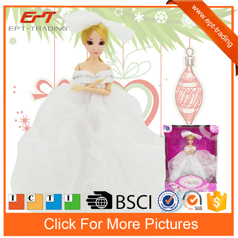 12inch pretty silicon love beautiful princess dress up game doll