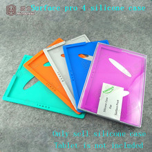 Slim Fit eco friendly silicone Stand Cover with Convex vertical stripes design for Surface Pro 4 silicone case/skin