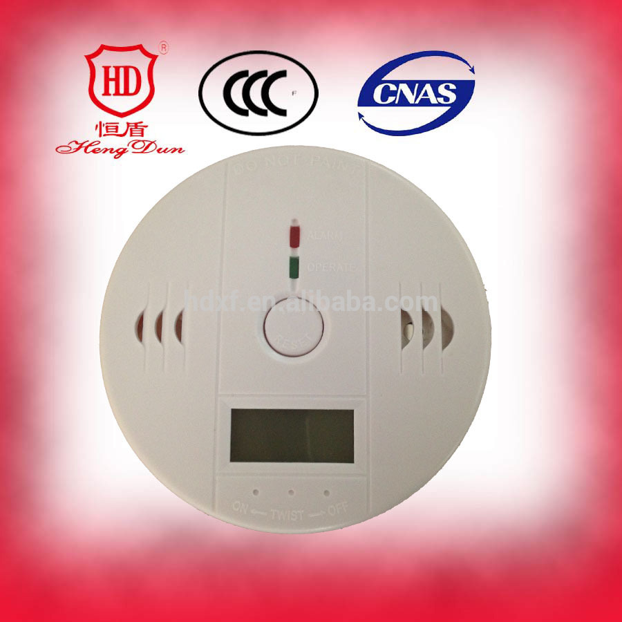 Home Security Product CE Approved Battery Operated Carbon Monoxide Alarm Detector Price