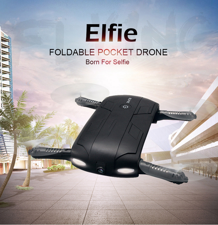 JJRC h37 Foldable drone Elfie 2.4G Selfie pocket drone by phone control with Flying camera
