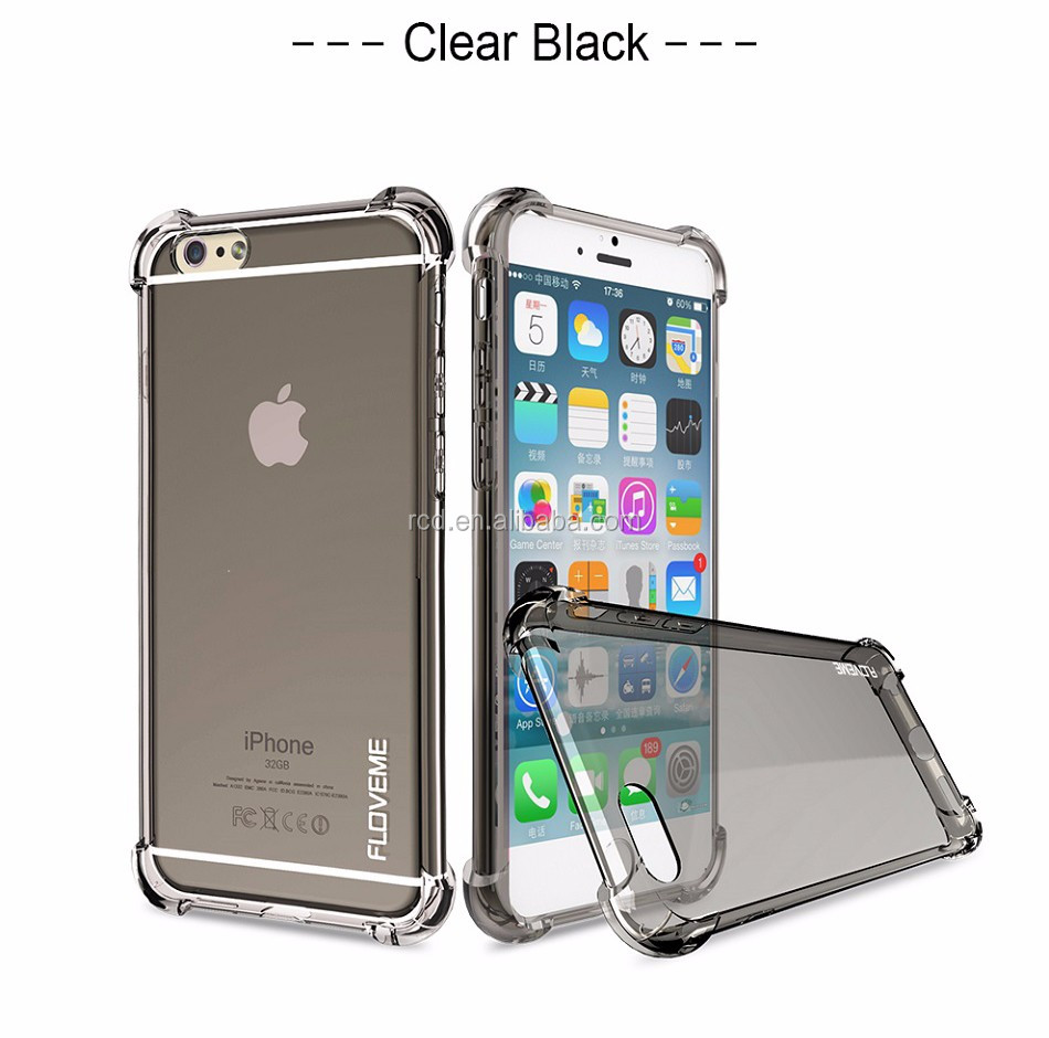 2016 hotsale newest factory supply anti-crash transparent clean fancy tpu phone bumper cover tpu case for iphone ip6/6s/6 plus
