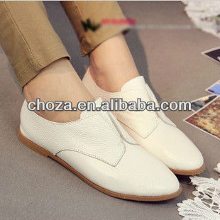 C20699A MOST POPULAR STYLISH WOMEN'S FLAT LEATHER SHOES