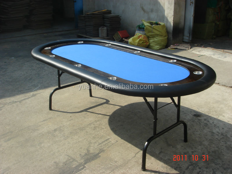 10 players 84 texas hold 39 em folding legs casino table for for 10 player folding poker table