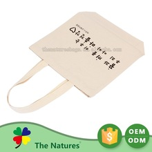 On Promotion Custom Shape Printed Newest Advertising Organic Cotton Shopping Bag