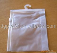 Glossy eva hanging Plastic Underwear Bag with Plastic Hook
