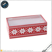 GBP321 PVC Window Decoration Christmas Gift Packaging Apparel Sock Box