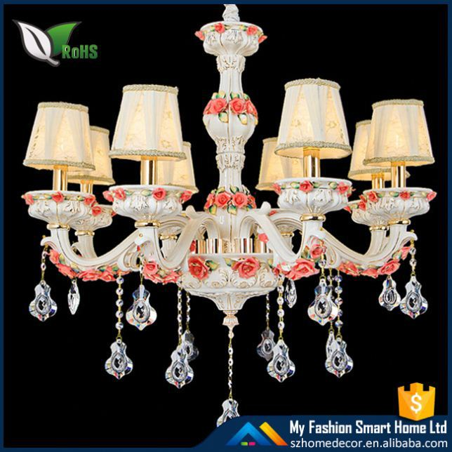 Plastic amber crystal chandelier with high quality