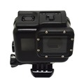 Gopros 5 generations of black gold waterproof housing, with the base + screw, need to unload Hero5 camera lens frame
