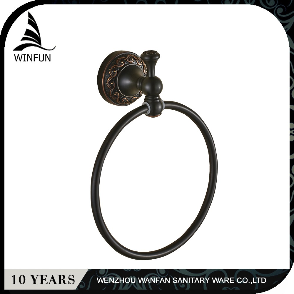 fashion/European style high quality black antique brass bathroom towel ring