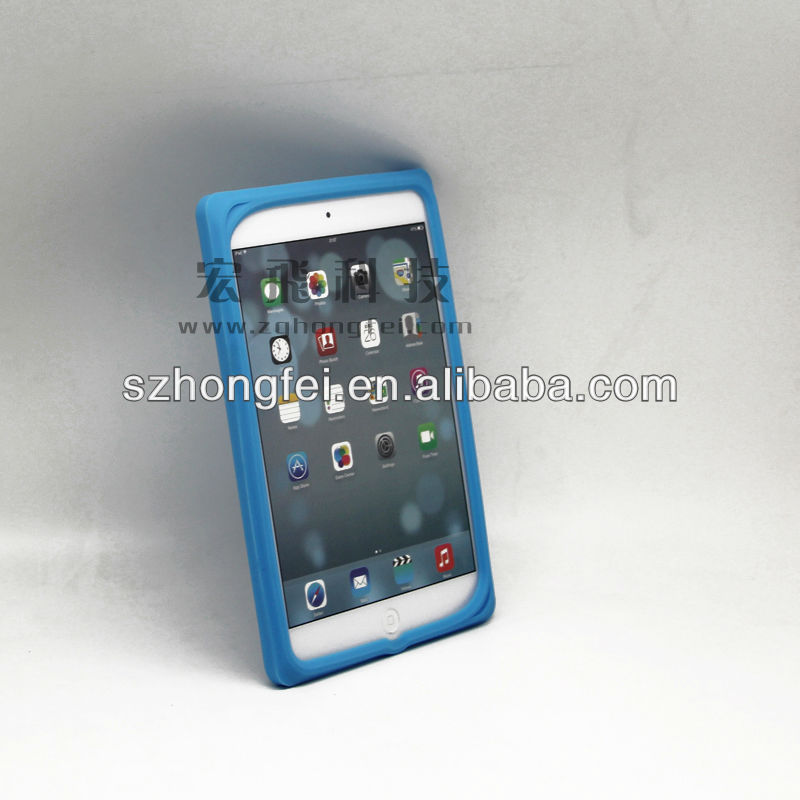 China factory 2014 newest design hot sale cute silicon custom waterproof china anti-shock for kids ipad case