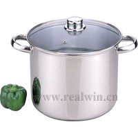 stainless steel pot , Stock pot , cooking pot