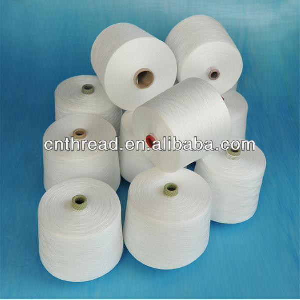 Raw material polyester staple fiber 100% polyester sewing thread