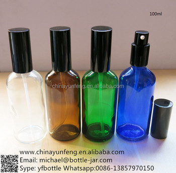 Wholesale 100ml essential oil glass bottle with pump sample free