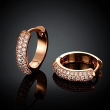 Fashion Jewelry Made In China Wholesale Rose Gold Plated Jewelry KZCE038 Earrings Jewellery