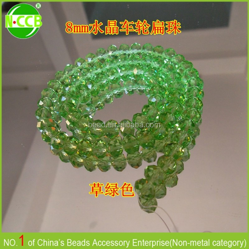 colorful crystal glass beads used for curtain made
