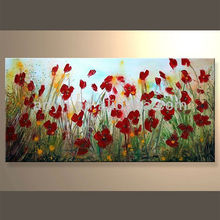 Wholesale Handpainted Oil Canvas Flower Modern Painting for Decoration Home