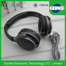 China suppliers wireless stereo headphone with 3.5mm jack bluetooth without wire