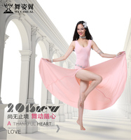 Wuchieal Sexy Women Soft Hygroscopic and Breathable Belly Dance Dress for Performance and Practice