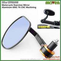 Customized Universal Motorbike Rear View Mirror For Kawasaki Motorcycle Parts Bar End Mirror MV01005